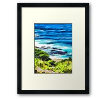 Water on the Rocks 1 Framed Print