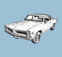 1966 Pontiac Lemans Car Illustration Kids Tee