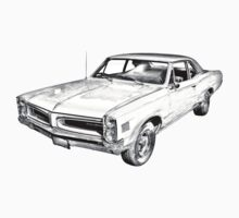1966 Pontiac Lemans Car Illustration Baby Tee