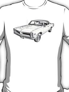 1966 Pontiac Lemans Car Illustration T-Shirt