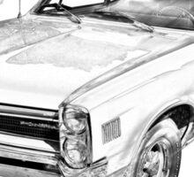 1966 Pontiac Lemans Car Illustration Sticker