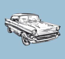 1957 Chevy Belair Illustration Baby Tee