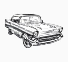 1957 Chevy Belair Illustration Kids Clothes