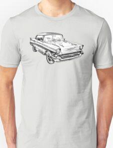 1957 Chevy Belair Illustration T-Shirt