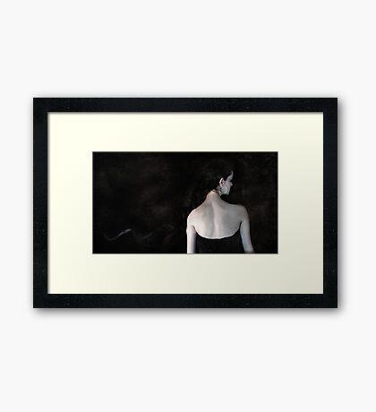 Silver Ribbon Framed Print