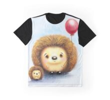 Cute Little Hedgehogs & a Balloon Graphic T-Shirt