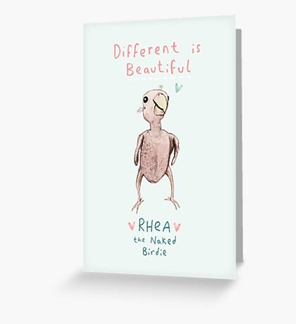 Rhea - Different is Beautiful Greeting Card