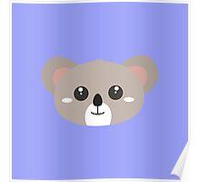 Cute friendly Koala head Poster