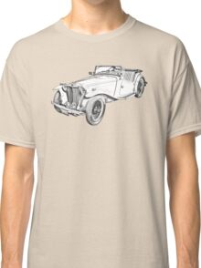 MG Convertible Antique Car Illustration Classic T-Shirt
