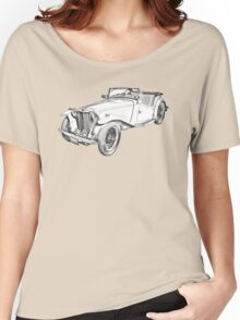 MG Convertible Antique Car Illustration Women's Relaxed Fit T-Shirt