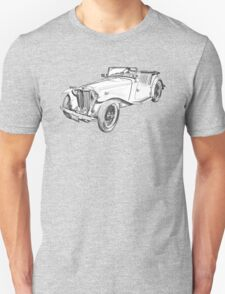 MG Convertible Antique Car Illustration T-Shirt