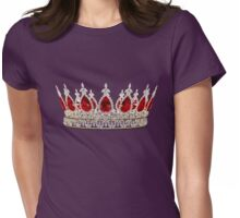 Ruby & Diamond Crown Womens Fitted T-Shirt