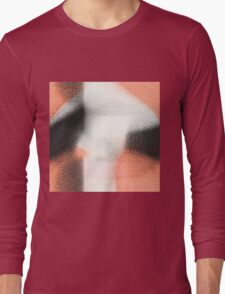 Soft black, white and coral hearts Long Sleeve T-Shirt