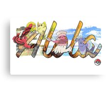 Pokemon Alola Birds Canvas Print