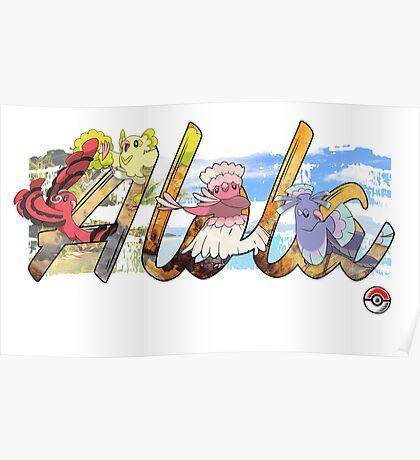 Pokemon Alola Birds Poster