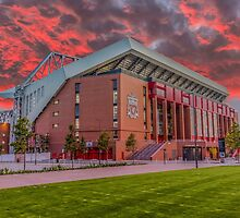 Red Sky Over Anfield by Paul Madden