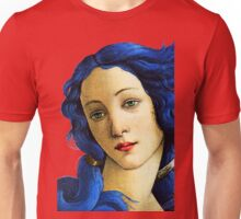 Birth Of Venus In Blue Unisex T-Shirt