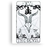 The Devil Tarot Card Canvas Print