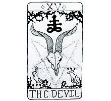 The Devil Tarot Card Photographic Print