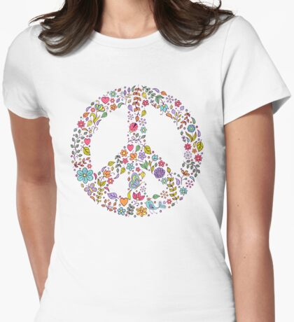peace symbol Womens Fitted T-Shirt