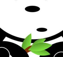 Panda Holding Bamboo Leaves Sticker