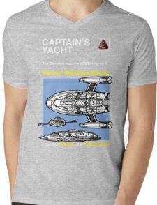 Owners' Manual - The Captains Yacht - T-shirt Mens V-Neck T-Shirt