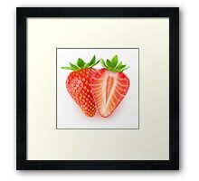 Cut strawberries Framed Print