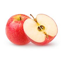 Cut red apples Photographic Print