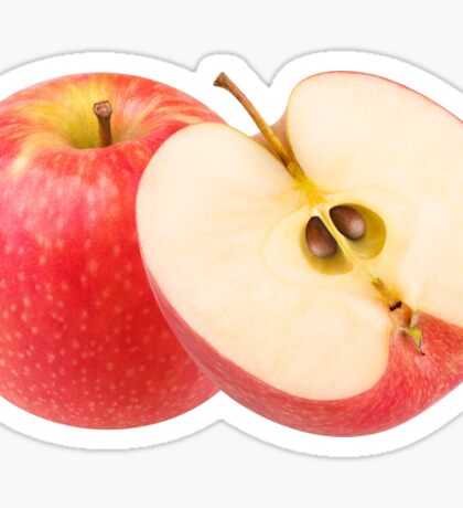 Cut red apples Sticker