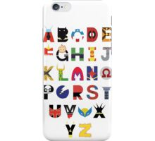 marvel superhero alphabet iPhone Case/Skin