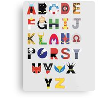 marvel superhero alphabet Metal Print