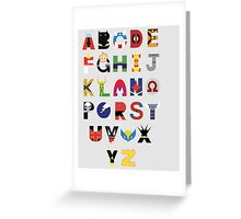 marvel superhero alphabet Greeting Card