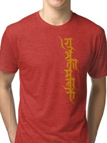Shubhkamnayein means Blessings 2 Tri-blend T-Shirt