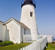 Maine's Pemaquid Point Lighthouse by Kenneth Keifer