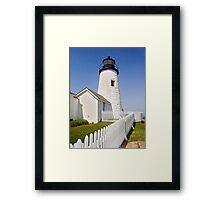 Maine's Pemaquid Point Lighthouse Framed Print