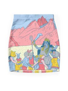 Kali dance  Mini Skirt