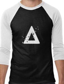Bastille Birds Triangle White Men's Baseball ¾ T-Shirt