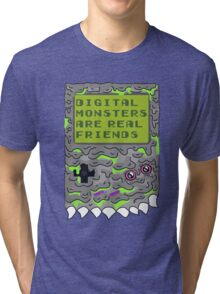 Digital Monsters Are Real Friends! Tri-blend T-Shirt