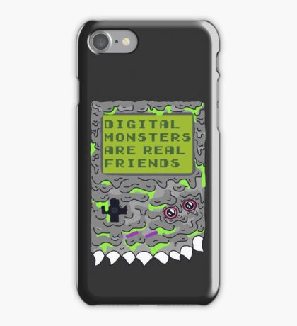 Digital Monsters Are Real Friends! iPhone Case/Skin