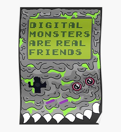 Digital Monsters Are Real Friends! Poster