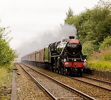 "Cumbrian Mountain Express hauled by a Stanier ""Black Five"" by John Morris"