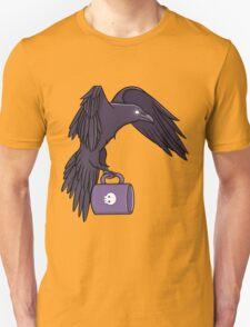 Raven Familiar // White Unisex T-Shirt