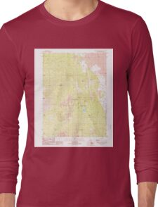 USGS TOPO Map California CA Burney Mountain East 300052 1990 24000 geo Long Sleeve T-Shirt