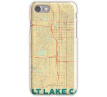 Salt Lake City Map Retro iPhone Case/Skin