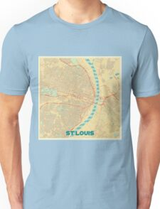St Louis Map Retro Unisex T-Shirt