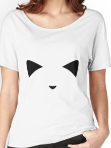 Invisible Black Meow Women's Relaxed Fit T-Shirt