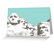 Mount Rushmore - Linght Blue Greeting Card
