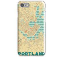 Portland Map Retro iPhone Case/Skin