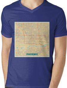 Phoenix Map Retro Mens V-Neck T-Shirt