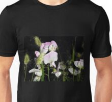 Pale Sweet Peas. Unisex T-Shirt